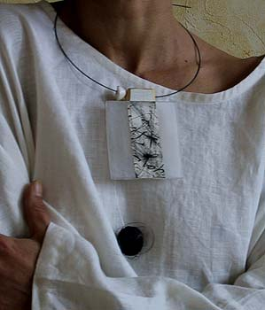 recycled wooden pendant