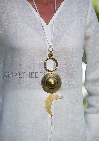 Bridal jewel: Yin and Yang talisman, Cosmic Union between The Sun and The Moon