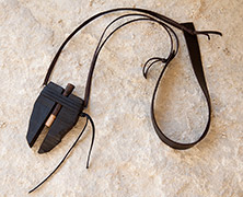 One of a kind: carved contemporary ebony pendant necklace