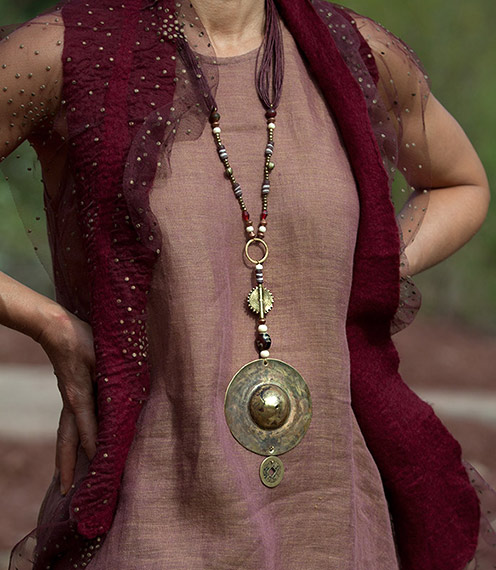 ethnic style clothing: linen gauze tunic