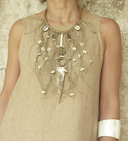 original ethnic bib necklace