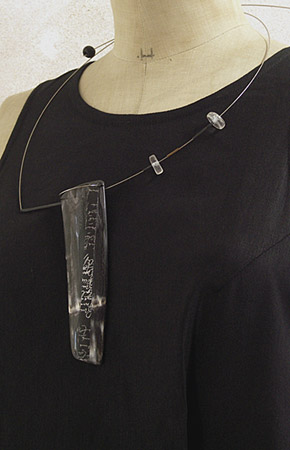 Contemporary horn necklace