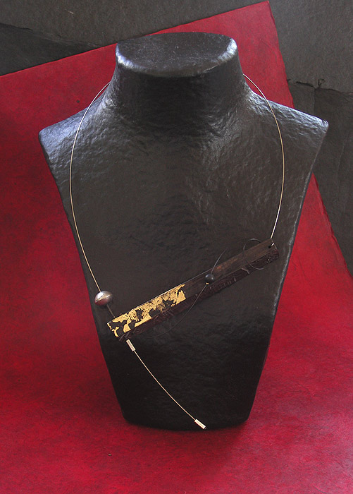 CONTEMPORARY ASYMMETRICAL  EBONY necklace