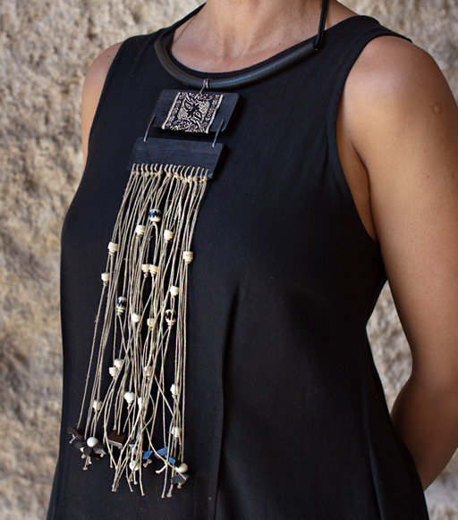 Ebony Plastron necklace