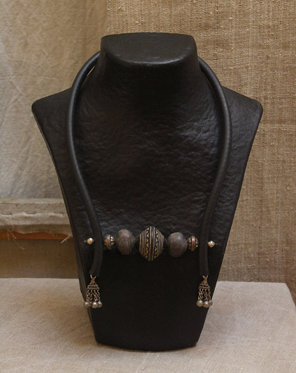 ethnic and beaded necklace