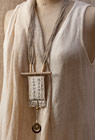 Upcycled vintage linen necklace