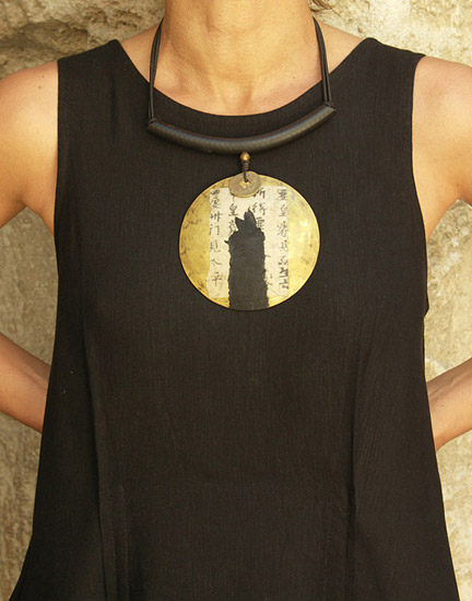 Ethnic brass necklace