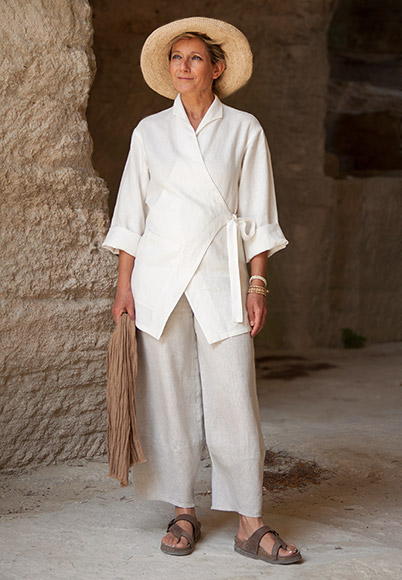 Women's White linen jacket