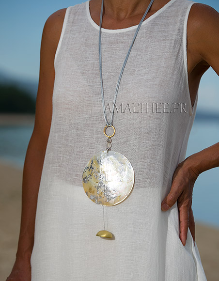 Mother of pearl contemporary pendant