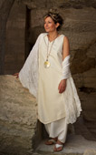 Beautifully elegant pure shantung silk  Tunic
