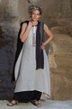 Tunic/dress made of linen gauze natural color AMALTHEE CREATIONS