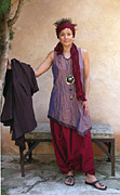 Wrinkled silk taffeta set: