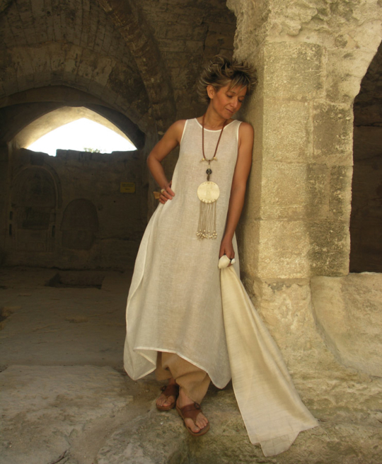 ROBE TUNIQUE EN VOILE DE LIN Looks